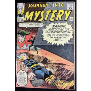 Journey into Mystery (1962) #91 VG+ (4.5) featuring Thor