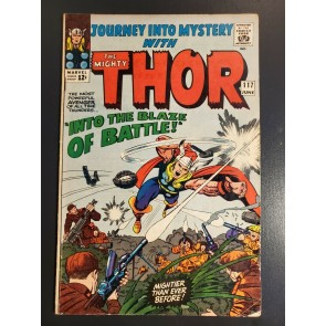 Journey into Mystery with Thor #117 (1965) VG+ 4.5 Into the Blaze of Battle|