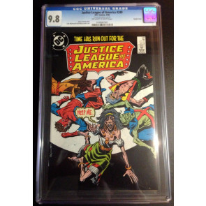 Justice League of America (1960) #249 double cover both cgc graded 9.8