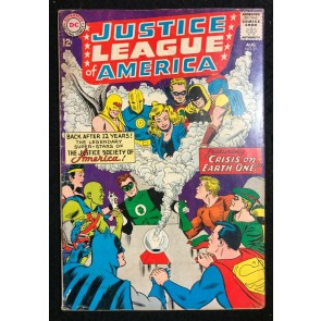 Justice League of America (1960) #21 VG (4.0) Crisis 1st SA app Hourman Dr Fate
