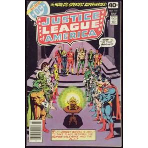 JUSTICE LEAGUE OF AMERICA #168 VF/NM JSA VS SECRET SOCIETY OF SUPER VILLAINS