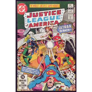 JUSTICE LEAGUE OF AMERICA #201 NM- ULTRAA GEORGE PEREZ COVER