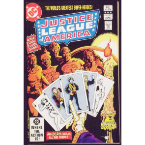 JUSTICE LEAGUE OF AMERICA #203 VF/NM 1ST APPEARANCE NEW ROYAL FLUSH GANG