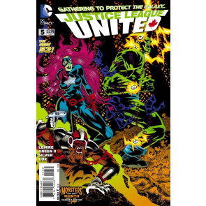 JUSTICE LEAGUE UNITED #5 VF/NM MONSTERS OF THE MONTH VARIANT COVER THE NEW 52!