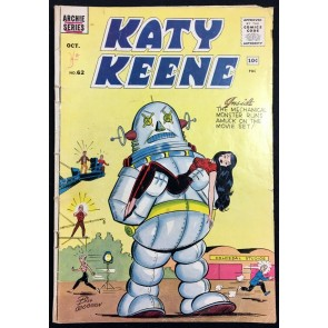 Katy Keen (1949) #62 PR (0.5) Forbidden Planet Robot cover swipe last issue