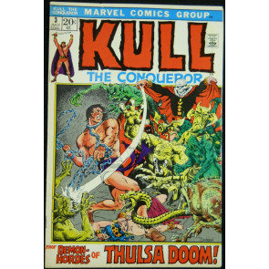 KULL THE CONQUEROR #3 FN/VF THULSA DOOM APPEARANCE