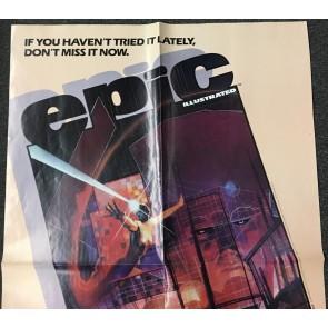 Last Galactus Story promo poster 1984 Bill Sienkiewicz art measures 21.5