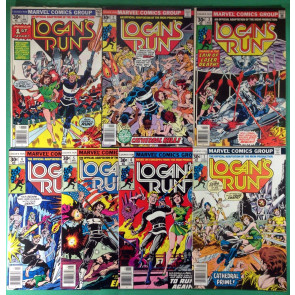 Logan's Run (1976) 1 2 3 4 5 6 7 FN/VF (7.0) complete set 1st Thanos solo story