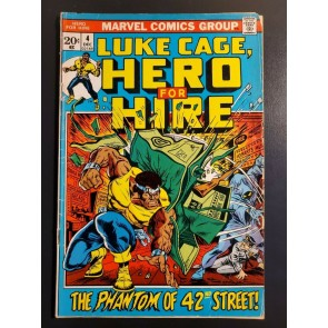 Luke Cage Hero For Hire 4 (1972) VG 4.0 Marvel Bronze Early Power Man issue |