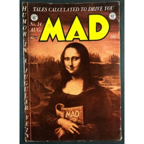 Mad (1952) #14 VG (4.0) Classic Mona Lisa Cover EC Comics