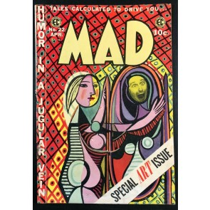 Mad (1952) #22 VG (4.0) Classic Picasso The Girl Before The Mirror EC Comics