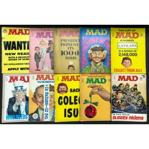 Mad (1952) #49-195 Reader Lot of 44 magazines