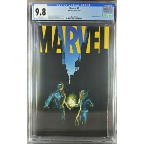 Marvel #3 (2021) CGC 9.8 Alex Ross Power Man & Iron Fist negative cover 2 exist|