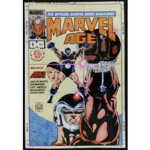 MARVEL AGE #9 COVER ORIGINAL COLOR PROOF ACETATE SEPARATIONS GUIDE
