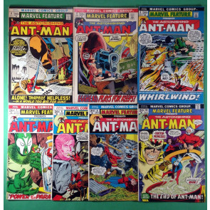 Marvel Feature (1972) 4 5 6 7 8 9 10 FN/VF (7.0) return of Ant-Man complete set