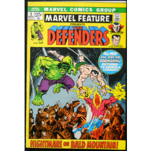 MARVEL FEATURE #2 FN+ 2ND APP DEFENDERS