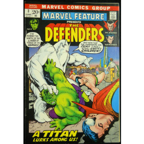 MARVEL FEATURE #3 VF DEFENDERS ENDS