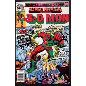 Marvel Premiere (1972) #35 (7.0) featuring 3-D Man his 1st app and Origin