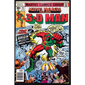 Marvel Premiere (1972) #35 FN/VF (7.0) featuring 3-D Man his 1st app and Origin