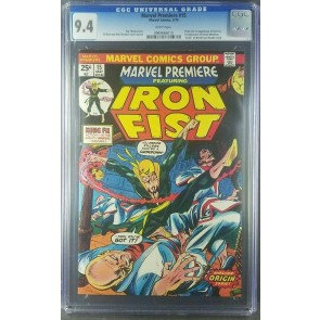 Marvel Premiere #15 1974 CGC 9.4 NM WHITE 1st Iron Fist Danny Rand 0969866010|