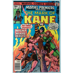 Marvel Premiere (1972) #33 VF- (7.5)  Mark of Kane