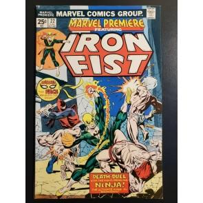 Marvel Premiere #22 (1975) VF (8.0) Iron Fist vs Ninjas! |