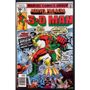 Marvel Premiere (1972) #35 NM- (9.2) featuring 3-D Man his 1st app and Origin