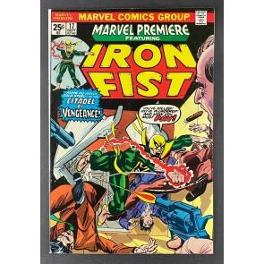 Marvel Premiere (1972) #17 VG/FN (5.0) Iron Fist 1st App Ninja / Triple-Iron