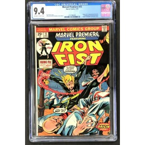 Marvel Premiere (1972) #15 CGC 9.4 off-white to white pages (2131986002)