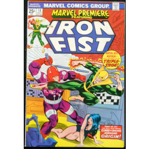 MARVEL PREMIERE #18 VF/NM IRON FIST
