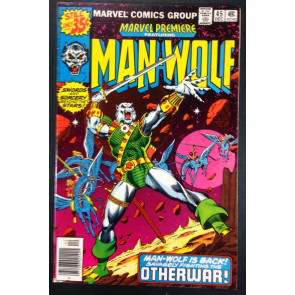 Marvel Premiere (1972) 45 FN+ (6.5) featuring Man-Wolf