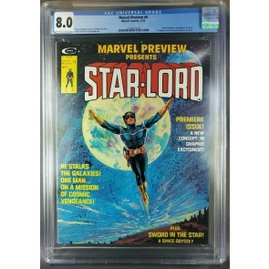 Marvel Preview #4 1975 CGC 8.0 VF OWW 1st App Starlord (3710871008)|
