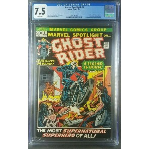 Marvel Spotlight #5 (1972) CGC 7.5 VF- White 1st App Ghost Rider 2095781002 |