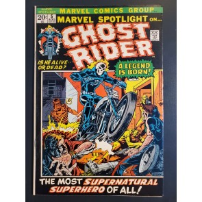 Marvel Spotlight #5 (1972) Apparent VF+ (8.5) 1st Johnny Blaze Ghost Rider |