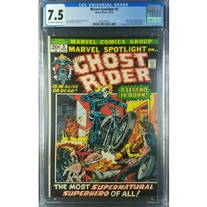 Marvel Spotlight #5 (1972) CGC 7.5 VF- OW/White 1st App Ghost Rider 2056787002 |