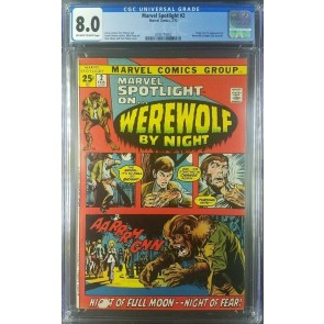 Marvel Spotlight #2 (1972) CGC 8.0 VF 1st App Werewolf By Night 2095779002