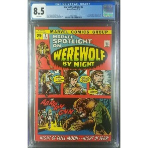 Marvel Spotlight #2 (1972) CGC 8.5 VF+ 1st App Werewolf By Night 2095779003