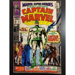 Marvel Super-Heroes #12 (1967) VF (8.0) Origin & 1st app. Captain Marvel |