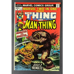 Marvel Two-In-One (1974) #1 VF (8.0) Gil Kane Thing Man-Thing Battle Cover