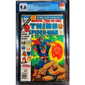 Marvel Two-In-One Annual (1977) #2 CGC 9.6 Thanos Saga Ends (1400627004)