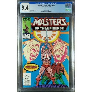 Masters of the Universe #1 (1986) CGC 9.4 WP He-Man Star/Marvel 3821186009|