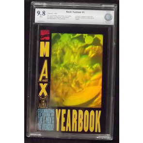 MAX YEARBOOK #1 CBCS 9.8 GRADED X-MEN AVENGERS HOLOGRAM COVER NOT CGC WHITE PAGE