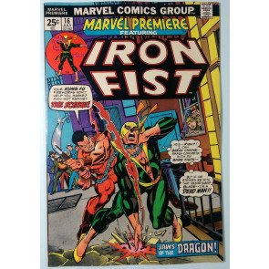 Marvel Premiere (1972) #16 FN+ (6.5) origin and 2nd app Iron Fist