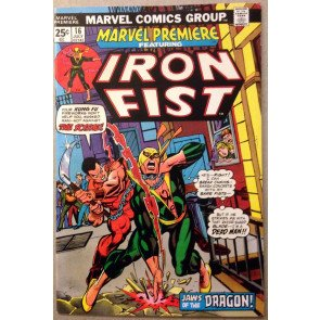Marvel Premiere (1972) #16 VF- (7.5) featuring Iron Fist 2nd app.