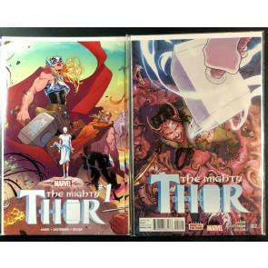 Mighty Thor (2016) #1 2 3 & 5 NM Jane Forster missing #4