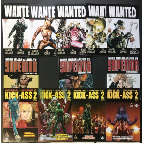 Millarworld Superior 1 3 4 Wanted 1-5 Kick-Ass 2 1-4 VF/NM (9.0) 12 comics total
