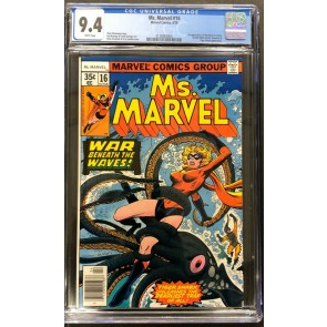 Ms Marvel (1977) #16 CGC 9.4 White 1st app Mystique in cameo (2128262004)