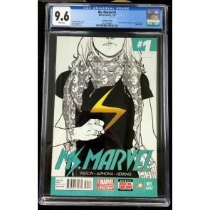 Ms Marvel (2014) #1 CGC 9.6 Kamala Khan becomes Ms Marvel 7th print (2016788008)