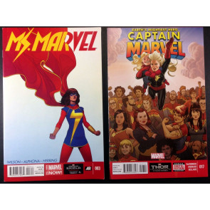 Ms Marvel (2014) 3 4 6 7 10 and Captain Marvel 17 1st app Kamala Khan