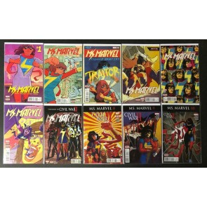 Ms. Marvel (2015) #'s 1 2 3 4 5 6 7 8 9 10 Complete VF/NM Set Kamala Khan